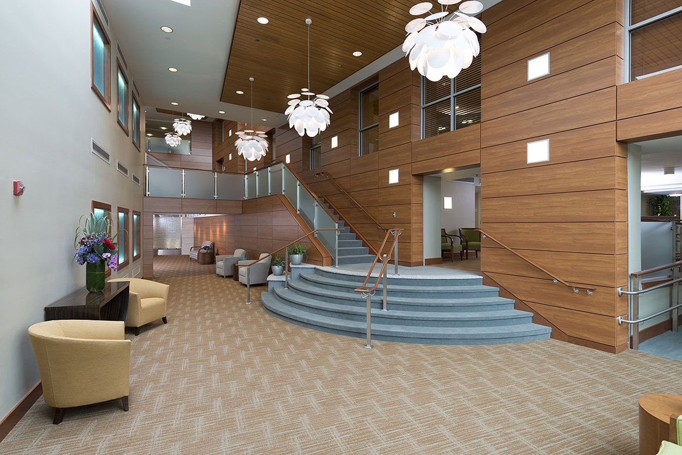 Open-concept designed for this CCRC entertainment lobby