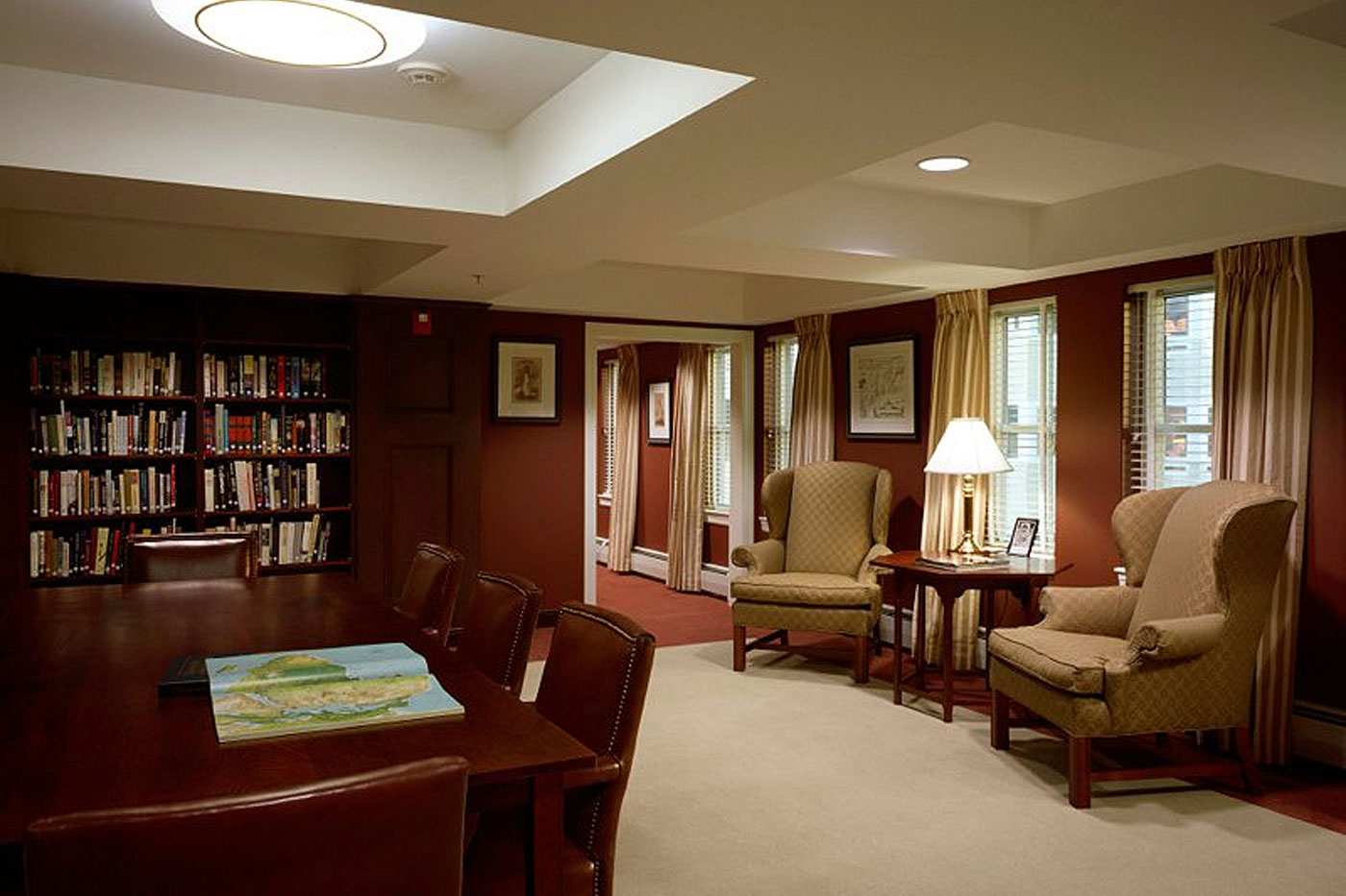 Library designed by WDC for retirement community in Maine