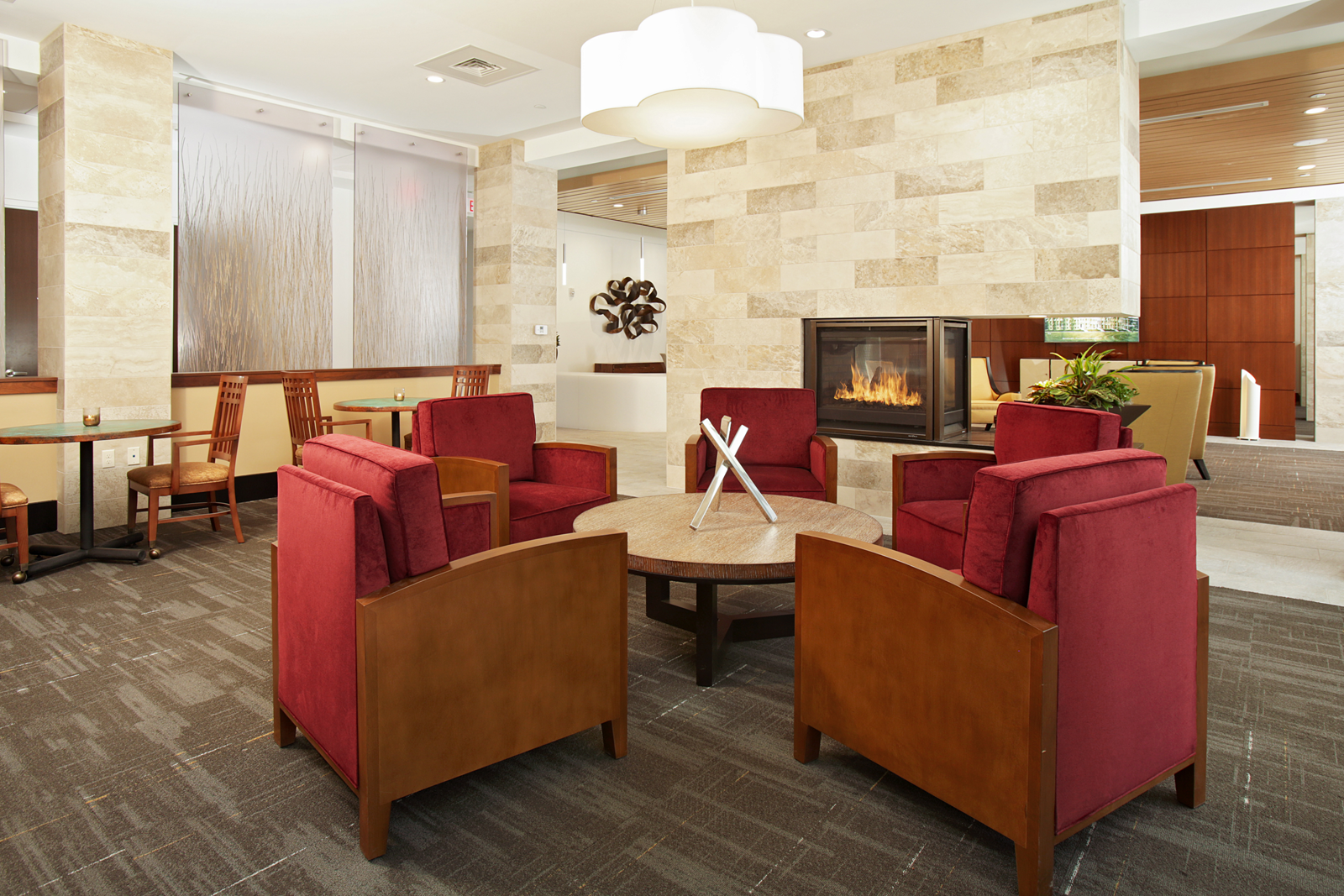 Breakfast area designed for an independent living retirement community