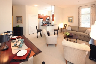 Sample of our interior design of an apartment in an independent living community